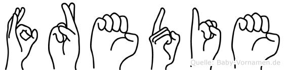 Fredie in Fingersprache für Gehörlose