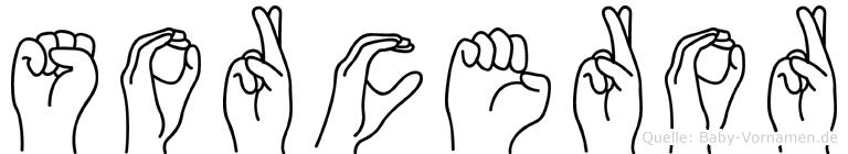 Sorceror im Fingeralphabet der Deutschen Gebärdensprache
