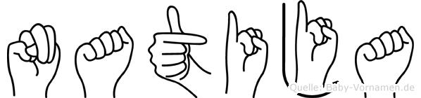 Natija im Fingeralphabet der Deutschen Gebärdensprache
