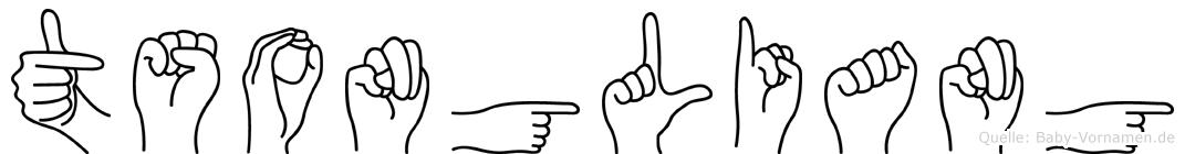 Tsongliang in Fingersprache für Gehörlose
