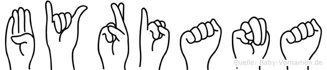 Byriana in Fingersprache für Gehörlose