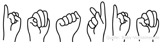 Imakin im Fingeralphabet der Deutschen Gebärdensprache