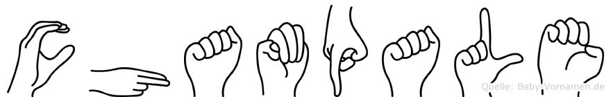 Champale in Fingersprache für Gehörlose