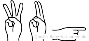 Wug in Fingersprache für Gehörlose