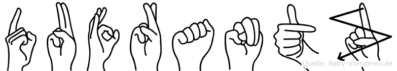 Dufrantz im Fingeralphabet der Deutschen Gebärdensprache