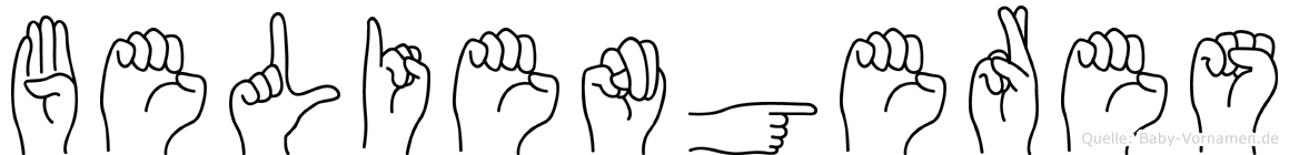 Beliengeres in Fingersprache für Gehörlose