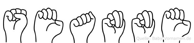 Seanne in Fingersprache für Gehörlose