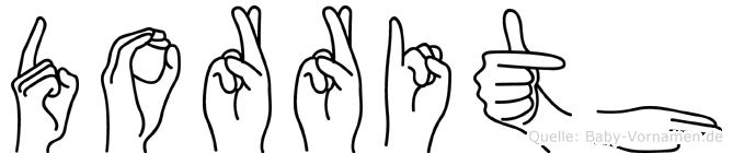 Dorrith im Fingeralphabet der Deutschen Gebärdensprache