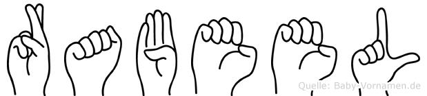 Rabeel im Fingeralphabet der Deutschen Gebärdensprache