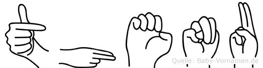 Thenu im Fingeralphabet der Deutschen Gebärdensprache