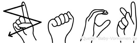 Zack im Fingeralphabet der Deutschen Gebärdensprache