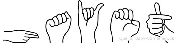 Hayet in Fingersprache für Gehörlose