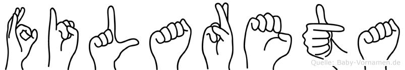 Filareta in Fingersprache für Gehörlose