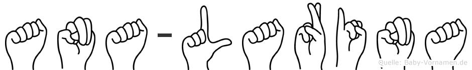 Ana-Larina im Fingeralphabet der Deutschen Gebärdensprache