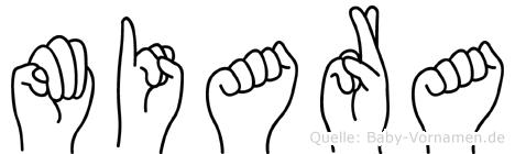 Miara in Fingersprache für Gehörlose