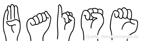 Baise im Fingeralphabet der Deutschen Gebärdensprache