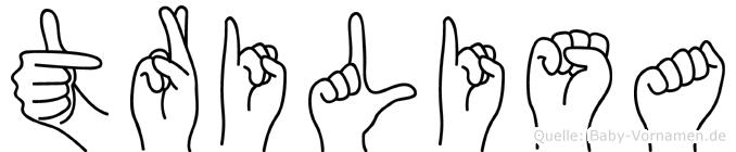 Trilisa in Fingersprache für Gehörlose