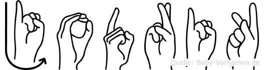 Jodrik in Fingersprache für Gehörlose