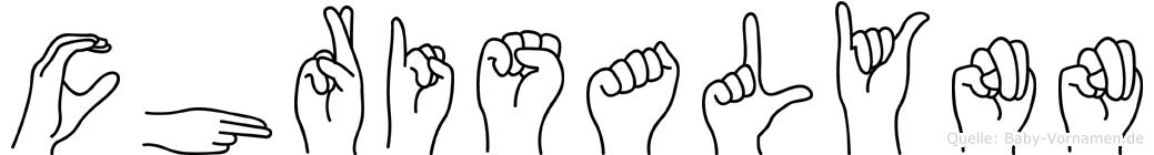 Chrisalynn in Fingersprache für Gehörlose