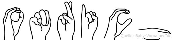 Onrich in Fingersprache für Gehörlose