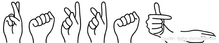 Rakkath im Fingeralphabet der Deutschen Gebärdensprache