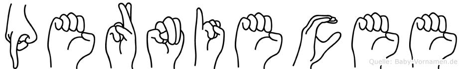 Perniecee im Fingeralphabet der Deutschen Gebärdensprache