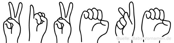 Viveke in Fingersprache für Gehörlose