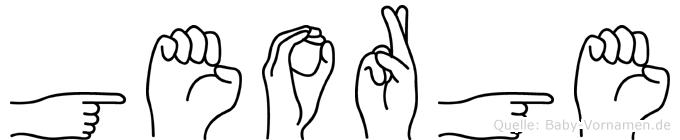 George in Fingersprache für Gehörlose