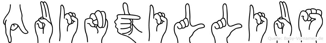 Quintillius in Fingersprache für Gehörlose