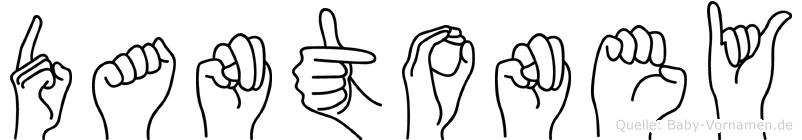 Dantoney in Fingersprache für Gehörlose