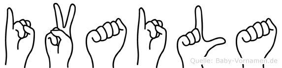 Ivaila im Fingeralphabet der Deutschen Gebärdensprache