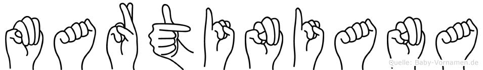 Martiniana in Fingersprache für Gehörlose
