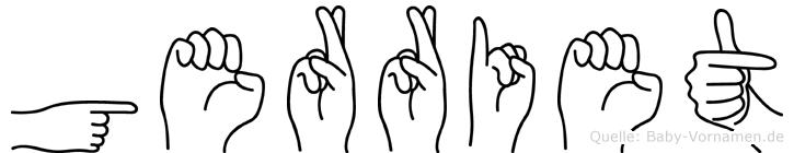 Gerriet in Fingersprache für Gehörlose