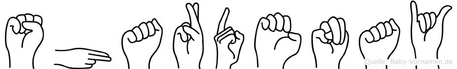 Shardenay in Fingersprache für Gehörlose