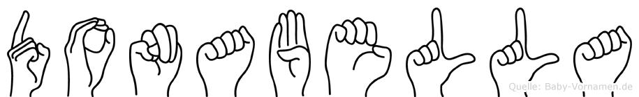 Donabella im Fingeralphabet der Deutschen Gebärdensprache