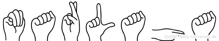 Marlaha im Fingeralphabet der Deutschen Gebärdensprache