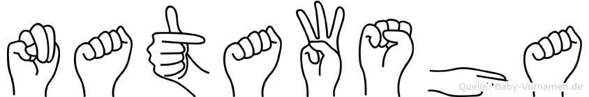 Natawsha im Fingeralphabet der Deutschen Gebärdensprache