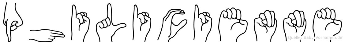 Philicienne in Fingersprache für Gehörlose