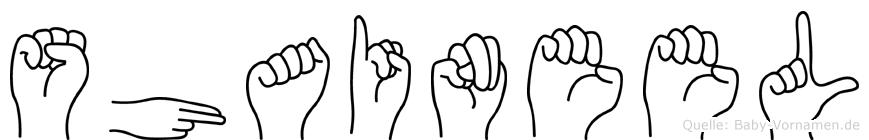 Shaineel im Fingeralphabet der Deutschen Gebärdensprache