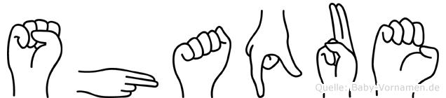 Shaque im Fingeralphabet der Deutschen Gebärdensprache