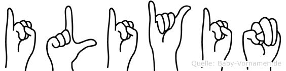 Iliyin im Fingeralphabet der Deutschen Gebärdensprache