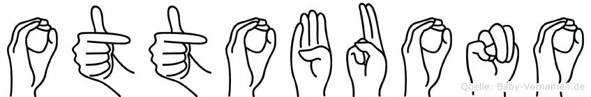 Ottobuono im Fingeralphabet der Deutschen Gebärdensprache