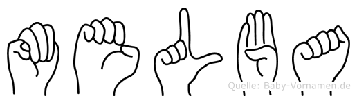 Melba in Fingersprache für Gehörlose