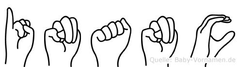 Inanc im Fingeralphabet der Deutschen Gebärdensprache