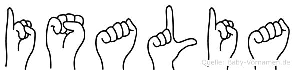 Isalia in Fingersprache für Gehörlose
