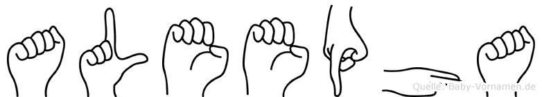 Aleepha in Fingersprache für Gehörlose