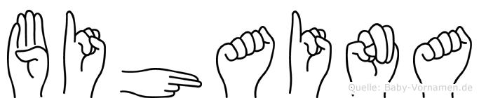 Bihaina in Fingersprache für Gehörlose