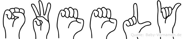 Sweely in Fingersprache für Gehörlose