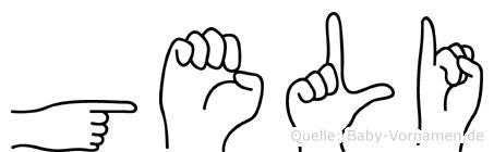 Geli in Fingersprache für Gehörlose