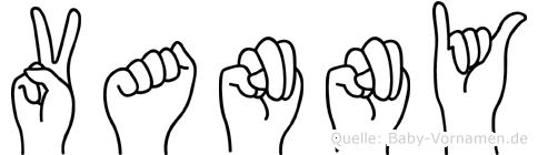 Vanny in Fingersprache für Gehörlose